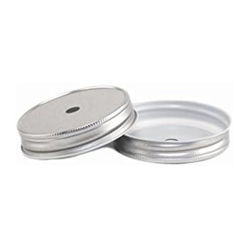 4 Stk. Deckel mit Loch - silber für Ball Mason Jar: Amazon