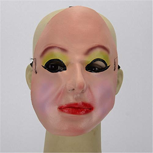 Billig Narr Kostüm - MASKUOY Halloween-Maske Lustige Halbe Gesicht Latex Simulation Requisiten Augen Make-Up Frau Nachtclub Maske Kostüm Narren Tag Maskerade Party Masken Versorgung