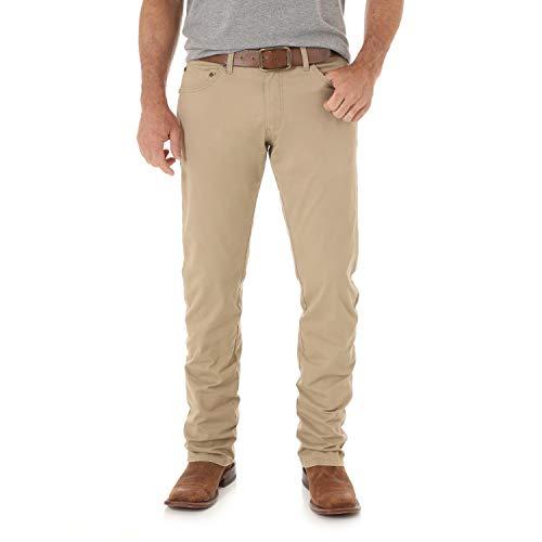 Wrangler Herren Jeans Retro Slim Fit Straight Leg - Beige - 42W / 34L Carpenter Style Jeans