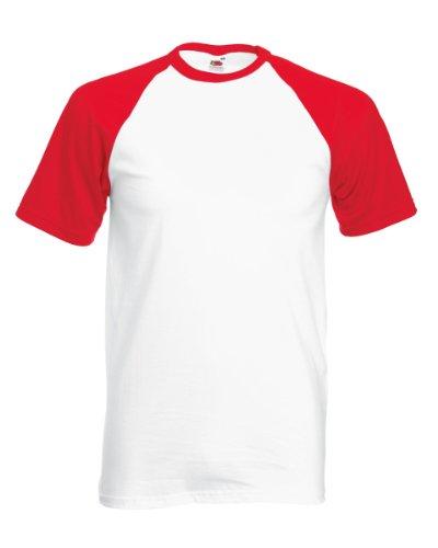 t-shirt-de-baseball-a-manches-courtes-fruit-of-the-loom-pour-homme-s-blanc-rouge
