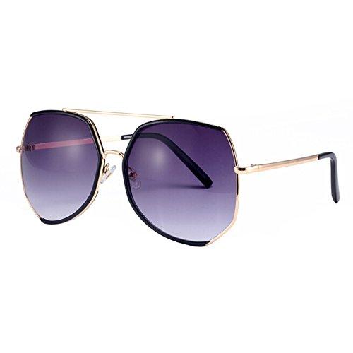 Fashion Maxi-Brillen für Frauen Flash-Spiegel-Objektiv-Sonnenbrille