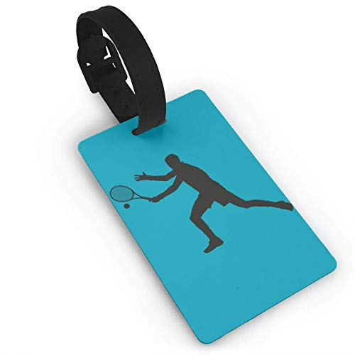 Ewtretr Gepäckanhänger for Travel Luggage Tags with Genuine Hand Strap Tennis Playing Travel Suitcase Bag Tag Identify Label -