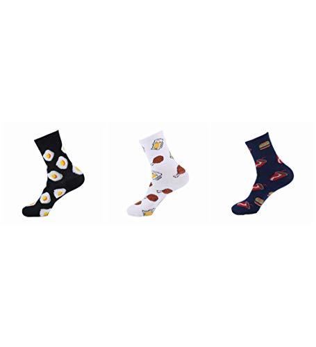 Socken Bunt,Ei, Huhn Bein, Cola Muster Neuheit Weichen Gemütlichen Bunten Frauen & Amp; Männer Socken Harajuku Streetwear Funny Cute Cartoon Einhorn Pinguin Hippo Donut Koreanisches Mädchen Kunst So