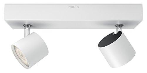 Philips myLiving Star-Barra de Dos focos de Techo, LED Integrado, Consume 4.5...