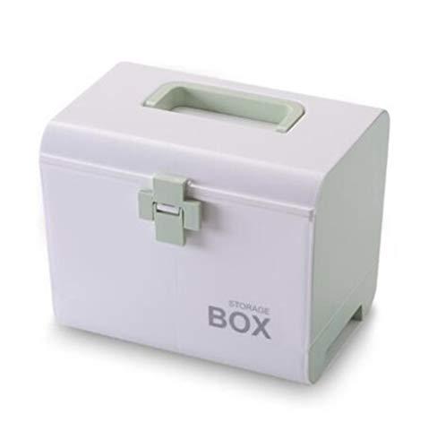 LIUQIGRASS Multi-Layer Storage Manager Medizin Box Portable Medical Box Kunststoff Schublade Medikament Aufbewahrungsbox Erste-Hilfe-Kit,Grün -