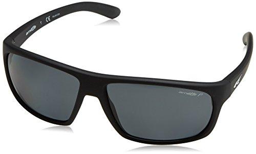 Arnette 0an4225 447/81, occhiali da sole uomo, nero (fuzzy black/polargray), 64