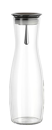"Bohemia Cristal 093 006 106 SIMAX Karaffe ca. 1250 ml aus hitzebeständigem Borosilikatglas mit praktischem Ausgießer aus Kunststoff smoke ""Viva"""