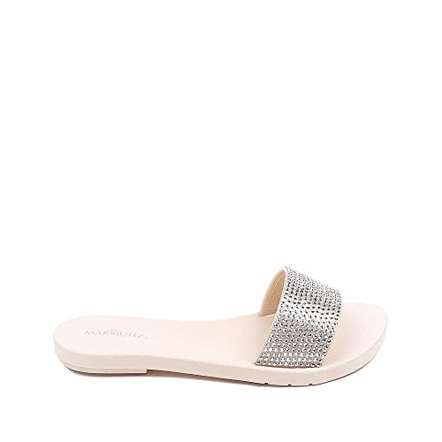 Scarpe Yvette Diamante Basse Muli Beige Ideali 1qr1w67