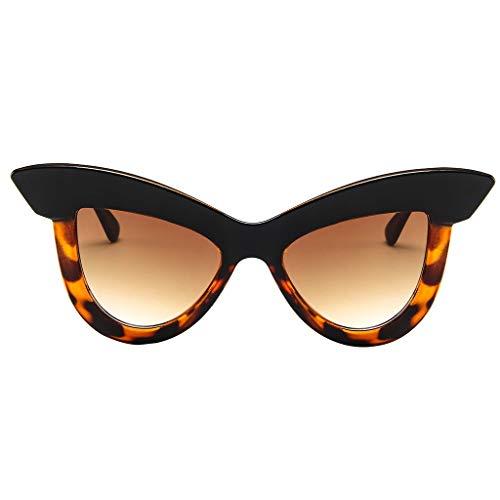 QUINTRA Sonnenbrille Damen Cat Eye Hippie Sonnenbrille Ultraleichte Retrobrillenbrille