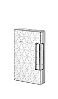 S. T. Dupont Initial Lighter, White bronze Fire head, Silver, 20805