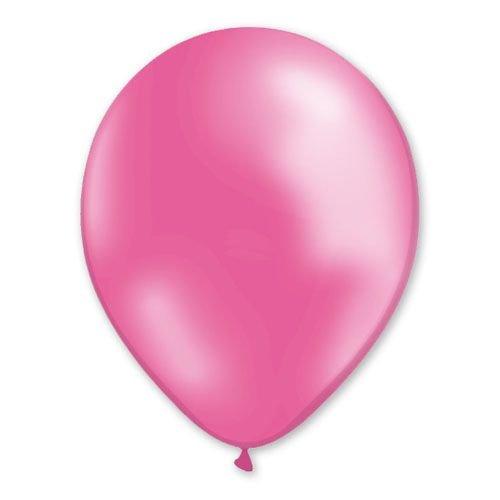 100 globos rosa metalizado 29 cm