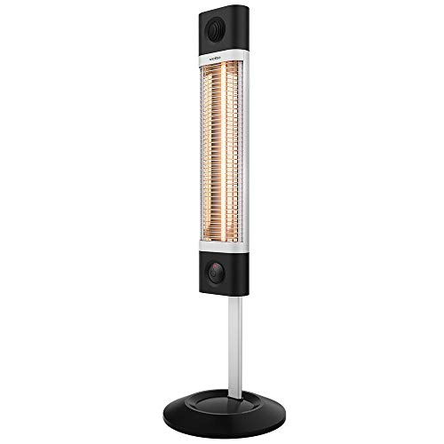 Veito CH1800RE Free Standing Carbon Infrared Heater, Black/Silver