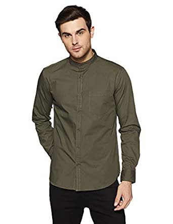 Amazon Brand - Symbol Men's Solid Regular Fit Full Sleeve Cotton Casual Shirt (AW-SY-MCS-1144_Olive_small)