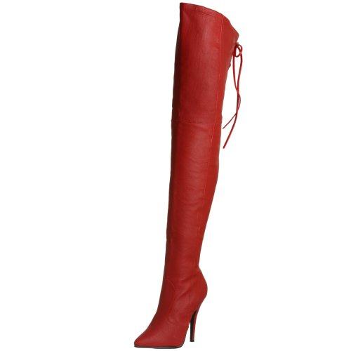 Pleaser LEG8899/R/LE Cuissardes Femmes Rouge