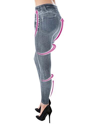Leggins Jeggings Vaqueros Pantalones Elásticos Para Mujer Con Bolsillos