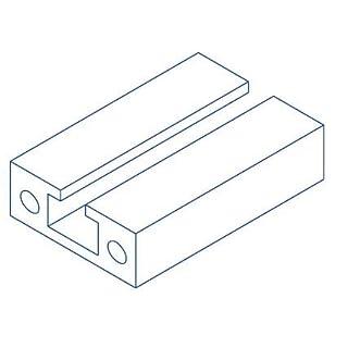 Alu-Profil 40x15 C-Profil Nut 8 System S150 750 Aluminium-Konstruktion-Profile Strebenprofil Stangen Systemprofil Profile vom Profi (6000 Stab Enden roh)