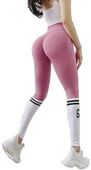 Yoga Pants High Waist Leggings Full Length Tights Workout Striped Alphabet Fitness Sports Scrunch Butt Lift St