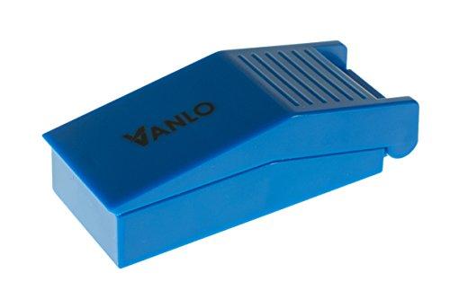 VANLO Pillenteiler aus Kunststoff mit Auffangschale in blau, Medikamententeiler, Pillenschneider, Tablettenteiler, Tablettenschneider