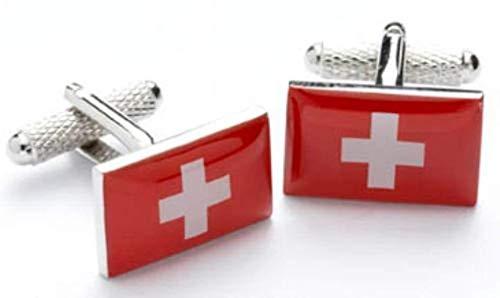 Boutons de manchette Drapeau de la Suisse