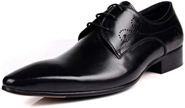 YaXuan Zapatos de Hombre Cuero Primavera/Otoño Zapatos Formales/Zapatos de Negocios/Punta Estrecha/Fiesta y Noche...
