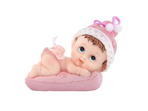 Tortenfigur BABY auf dem KISSEN Tortendeko Windeltortendeko Taufe (Mädchen)