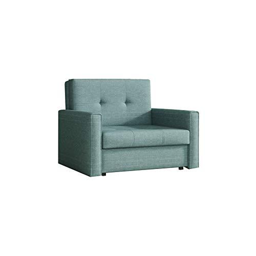 mb-moebel kleines Sofa mit Schlaffunktion und Bettkasten Schlafsessel Gästebett Jugendsessel Couch Bettsofa Mini I (Spirit 12)