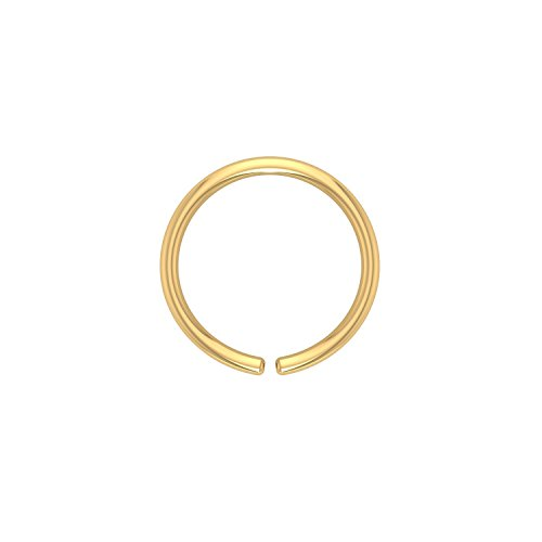 Eloish Shiny Simple Plain Gold Nose Ring Pretty. Plain Gold NoseRing. Stylish Gold Nose Ring.