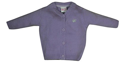 FS Mini Klub Baby-Girls' Wool Cardigan (892075E LT PU_6-9M, Purple, 6-9 Months)  available at amazon for Rs.299