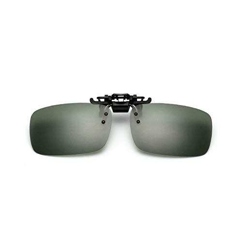 Sportbrillen, Angeln Golfbrille,Day Night Driving Glasses Polarisiert Clip On Sunglasses Men Women Myopia Glasses Men Brand Flip Up Sun Glasses UV400 L size Brown
