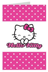 Hello Kitty Dots Karte mit Kuvert