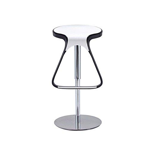 Hohe Stühle, Barhocker, Ergonomie Moderne Mode Minimalistischen Stil Aufzug Rotierenden Verstellbaren Drehstuhl Komfortable Und Starke Büro Küche Frühstück Stuhl Nähte Farbe ( Farbe : White+Black ) (Garten Frühstück Kissen)