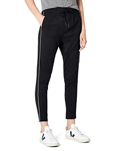 ONLY Damen onlPOPTRASH Piping Pant NOOS Hose, Schwarz (Black), 42/L32 (Herstellergröße: XL)