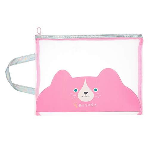 yuehuxin Excellent Mesh Zipper File Bags Documents Makeup Paper Pouch Pocket für Office School New(None Beard)