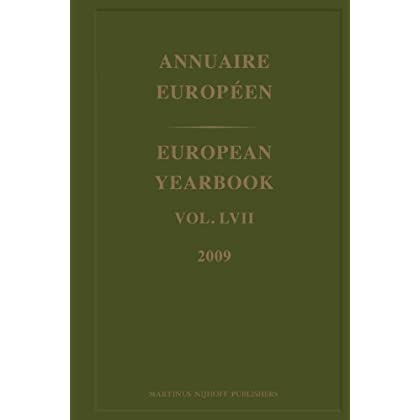 Annuaire Europeen/ European Yearbook 2009