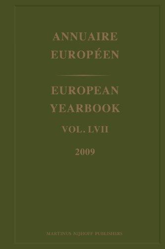 Annuaire Europeen/ European Yearbook 2009