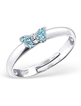 Liara - Kinder kleine Schmetterlings-Ringe 925 Sterling Silber.Poliert und Nickel frei