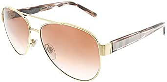 Burberry Women's 0BE3084 105213 Sunglasses, Brushed Gold/Browngradient, 57