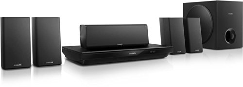 Philips HTB3520G 5.1 Home Entertainment-System (3D Blu-ray, Bluetooth, NFC) schwarz (Surround-sound-system 1000w)