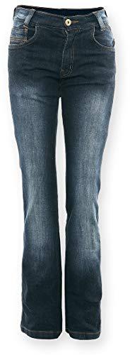 Bores Live Jeans Damen Motorradhose, Blau, Größe 33