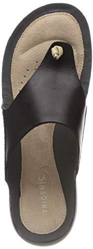 Clarks Damen Tri Carmen Sneaker, Schwarz (Black Leather), 40 EU (Pantoletten Clarks Damen Schuhe)