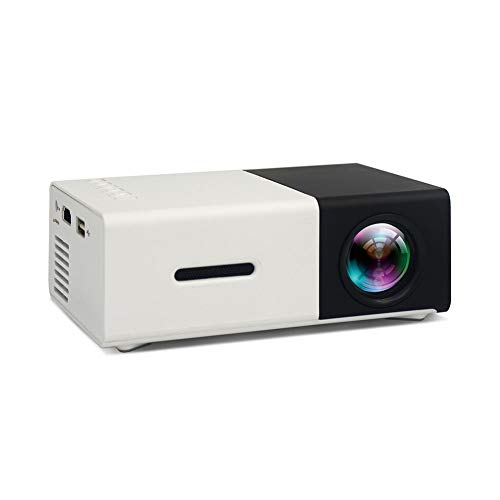 Projector mini home 1080p HD home theater can read U disk  mobile disk  SD card  with USB   AV   HDMI high-definition interface  standard 600G  yellow   black