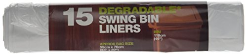 D2W Degradable Swing Bin Liners 15 Bags (Pack of 5)
