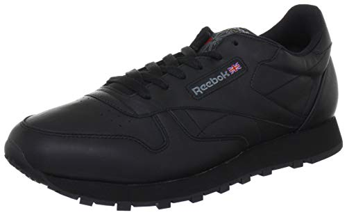 Reebok Damen Classic Leather Sneakers, Schwarz/Black), 37 EU -