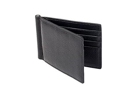 Premium Kreditkartenetui I Geldbörse mit Geldklammer aus hochwertig verarbeitetem Echtleder und integriertem RFID Blocker I Die ideale Brieftasche für Reisen, die Arbeit oder Unterwegs I AMABRO® (Usa Zu Weihnachten)