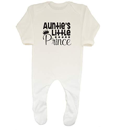 Shopagift Baby-Strampler für Jungen, Motiv Aunties Little Prince Gr. 56, weiß -