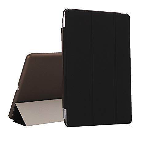 QinMM Hülle für iPad 6, 6. Generation 9.7, 2018, robuste, Kratzfeste, schlanke, magnetische Schutzhülle aus Leder (Ipad-feuer)