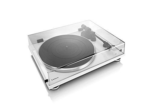 Lenco L-87 WH Belt-drive audio turntable White audio turntable - Audio Turntables (Belt-drive audio turntable, White, DC, 3.6 W, 0.3 A, 420 mm)