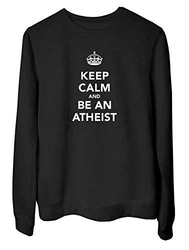 Rundhals-Sweatshirt fur Frau Schwarz TKC0532 Keep Calm and BE AN Atheist