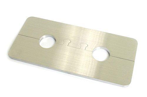 DUB SPENCER Exklusive Edelstahl Heizkörper Rosette Eckig Doppelrosette für HEIZUNG (Rohrdurchmesser: 18mm)