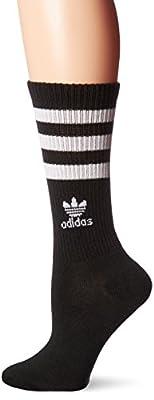 adidas Women's Originals Crew Sock, Medium, Black/White